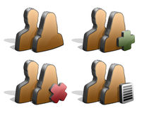 parsymbolssilhouettes Arkivbild