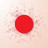 Partícula abstracta de la explosión en un fondo rosado Imágenes de archivo libres de regalías