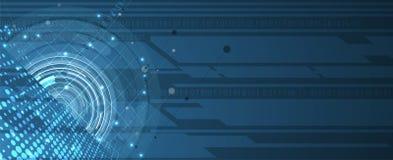 Partícula abstrata da tecnologia Fundo virtual da molécula Compu ilustração royalty free
