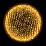 A partícula do fractal do brilho do ouro do vetor acende a esfera Foto de Stock