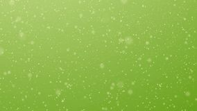 Partícula do movimento na luz - verde video estoque
