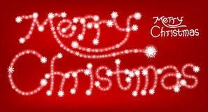 Partícula dos flocos de neve do cartão do Feliz Natal Foto de Stock Royalty Free