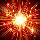 Partícula Ray Beam Light Background de la chispa del fuego de la explosión Foto de archivo