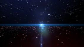Partícula roja y azul almacen de video