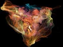 Partícula virtual de la mente ilustración del vector