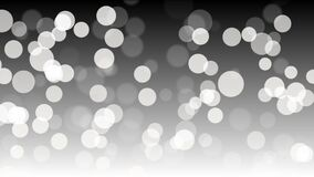 Partículas abstractas blancas y fondo de plata del bokeh almacen de video