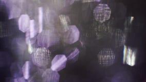 Partículas abstractas de la luz, interferencia, efecto ruidoso de la TV Capa para la mirada soñadora metrajes