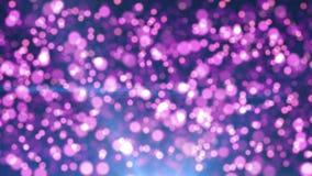Partículas abstractas de la violeta del bokeh