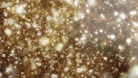 partículas abstractas del oro 4K almacen de metraje de vídeo
