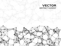 Partículas abstractas del vector Foto de archivo libre de regalías