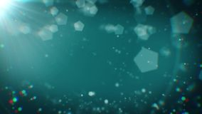 Partículas abstratas com luz em ciano escuro dado laços ilustração royalty free
