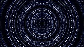 Partículas cibernéticas HUD Background de la ciudad de Digitaces con las líneas modelo con los cubos y la luz de destello fondo r libre illustration