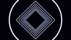Partículas cibernéticas HUD Background de la ciudad de Digitaces con las líneas modelo con los cubos y la luz de destello fondo r Foto de archivo libre de regalías