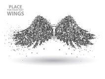 Partículas das asas, completamente empreendedoras através da ilustração do vetor do significado Fotos de Stock Royalty Free