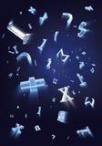 Partículas das fórmulas imagens de stock