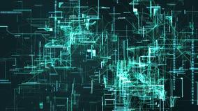 Partículas de espacio cibernéticas de Digitaces Imagen de archivo libre de regalías
