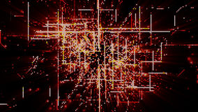 Partículas de espacio cibernéticas de Digitaces Fotos de archivo libres de regalías