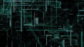 Partículas de espacio cibernéticas de Digitaces Foto de archivo libre de regalías