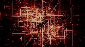 Partículas de espacio cibernéticas de Digitaces Fotografía de archivo