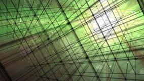 Partículas de Hypercube 3d ilustración del vector