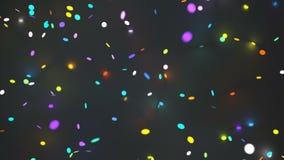 Partículas de incandescência coloridos video estoque