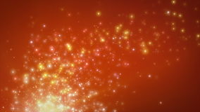 Partículas de la flotación anaranjada clara libre illustration
