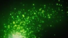 Partículas de la flotación verde clara ilustración del vector