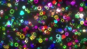 Partículas de la joya ilustración del vector