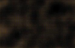 Partículas de oro de la chispa del brillo en el fondo negro, día de fiesta de la Feliz Año Nuevo ilustración del vector