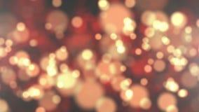 Partículas de oro del bokeh abstracto almacen de metraje de vídeo