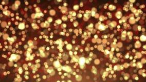 Partículas de oro del bokeh abstracto libre illustration