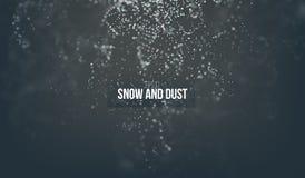 Partículas de queda da neve que voam no ar poeira da fantasia no fundo escuro ilustração royalty free