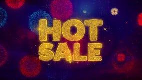 Partículas de saludo de la chispa del texto de la venta caliente en los fuegos artificiales coloreados
