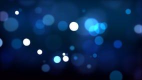 Partículas defocused azules HD_024 metrajes