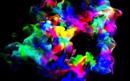 Partículas del humo coloreado en el aire, ejemplo 3d Foto de archivo libre de regalías