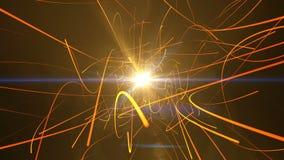 Partículas del oro para su introducción ilustración del vector
