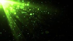 Partículas divinas de los rayos ligeros ilustración del vector