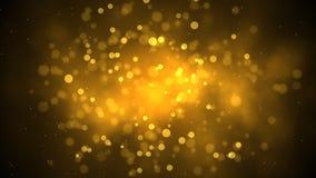 Partículas douradas video estoque