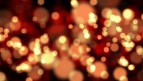 Partículas douradas do bokeh abstrato video estoque