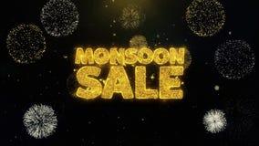Partículas escritas venta del oro de la monzón que estallan la exhibición de los fuegos artificiales
