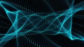 Partículas geométricas azuis abstratas do fundo capazes de dar laços ilustração stock