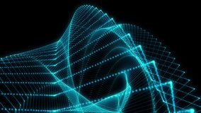 Partículas geométricas azuis abstratas do fundo capazes de dar laços ilustração do vetor