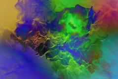 Partículas hermosas en el fondo coloreado, ejemplo 3d Fotos de archivo libres de regalías