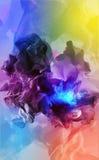 Partículas hermosas en el fondo coloreado, ejemplo 3d Fotografía de archivo libre de regalías