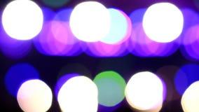 Partículas moventes Colorido, borrado, o bokeh ilumina o fundo Sparkles do sumário video estoque