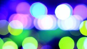 Partículas moventes Colorido, borrado, o bokeh ilumina o fundo Sparkles do sumário vídeos de arquivo