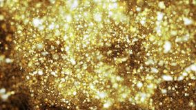 Partículas moventes Matiz do ouro Laço sem emenda video estoque