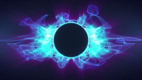 Partículas que agitan azules Logo Opener HD ilustración del vector