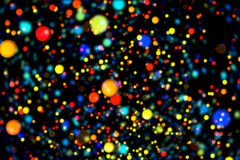 Partículas que brillan intensamente del fondo abstracto de la imagen Fotos de archivo libres de regalías