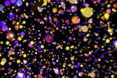 Partículas que brillan intensamente del fondo abstracto de la imagen Fotos de archivo